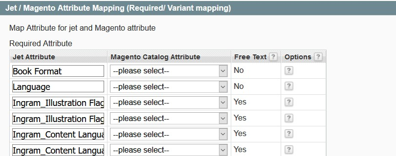 Jet-Magento Attribute Mapping