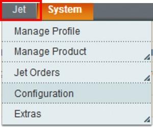 Jet menu