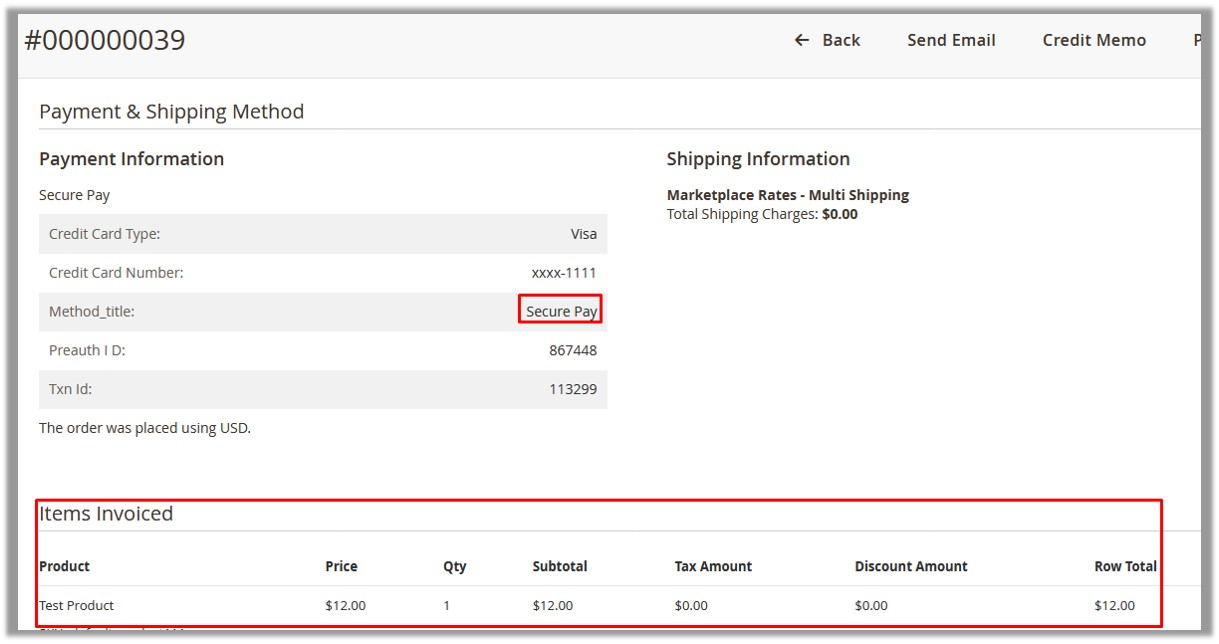 Payment and Shipping Method