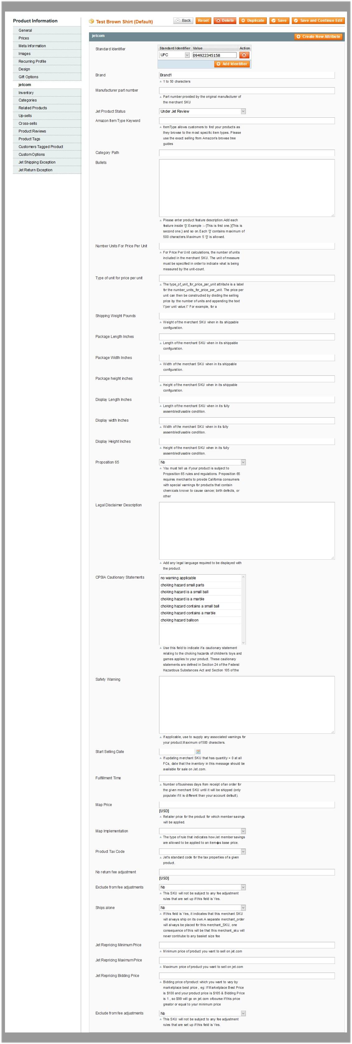 Product Information_jetcom