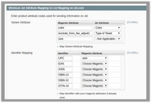 Minimum Jet Attribute Mapping to List Mapping on Jet.com-tab