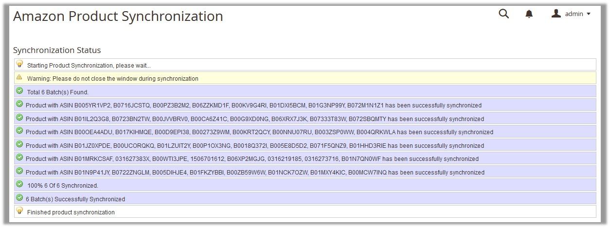 AmazonProductSynchronization