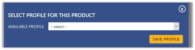 SelectProfileForThisproduct