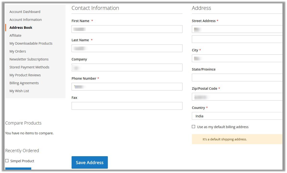 AddressBook_FrontPanelMyAccount_ShippingAddress