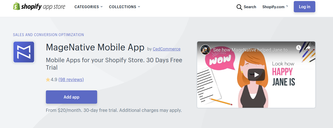 Shopify Mobile App by MageNative