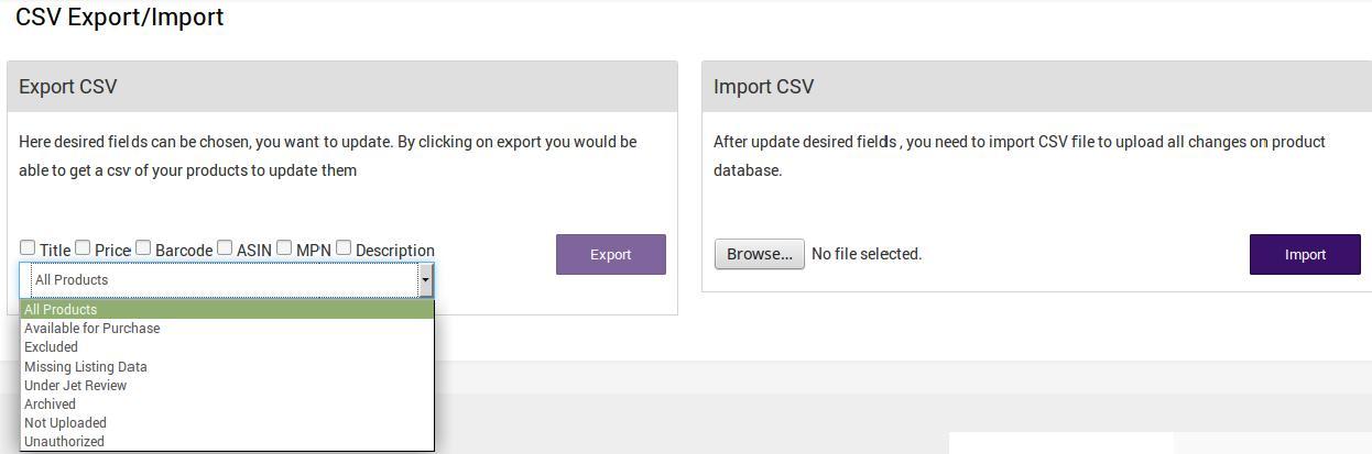 CSVImportExport_Page
