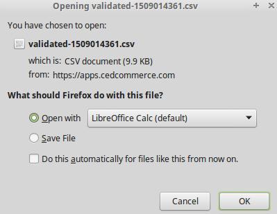 ExportValidatedCSV_AfterClick