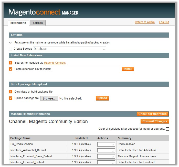 MagentoConnectManager_Page
