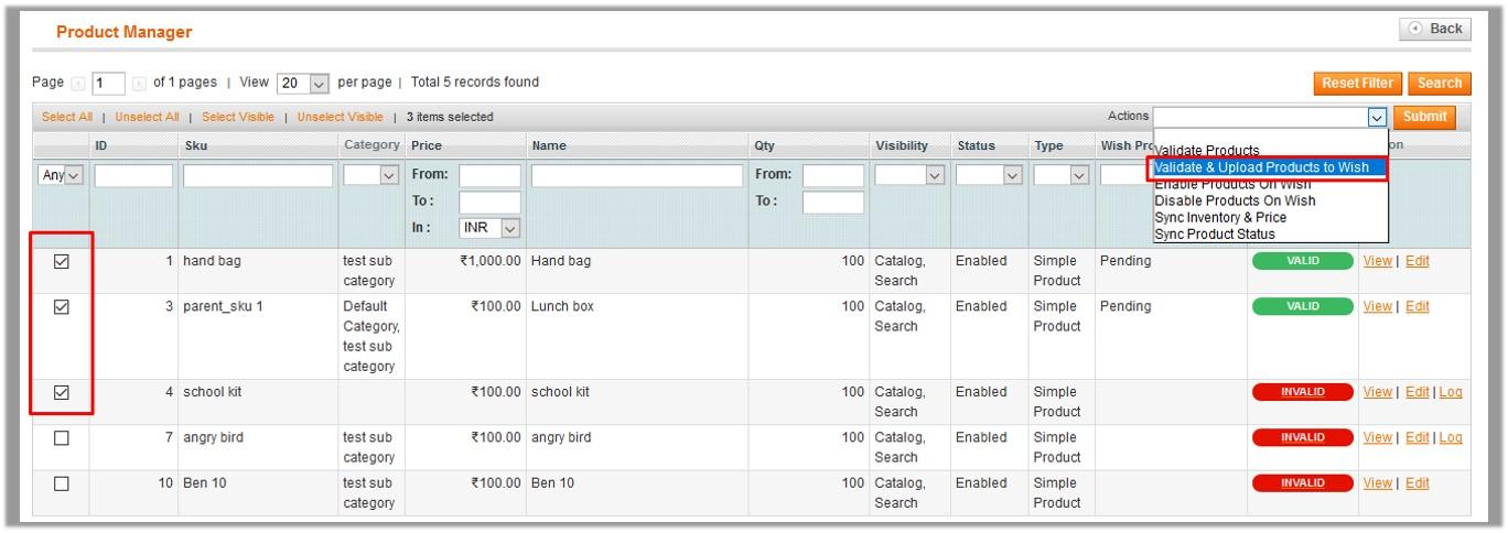 ProductManager_Valodate&UploadSelectedProducts