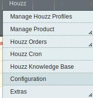 Houzz Menu