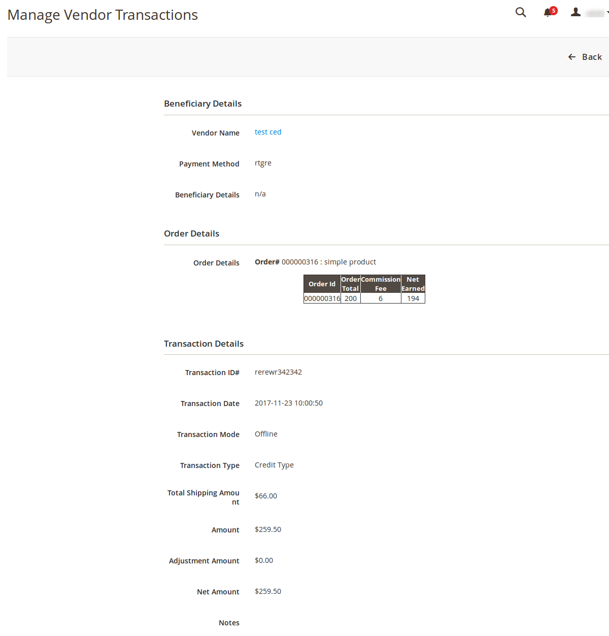 ManageVendorTransactions_ViewPage