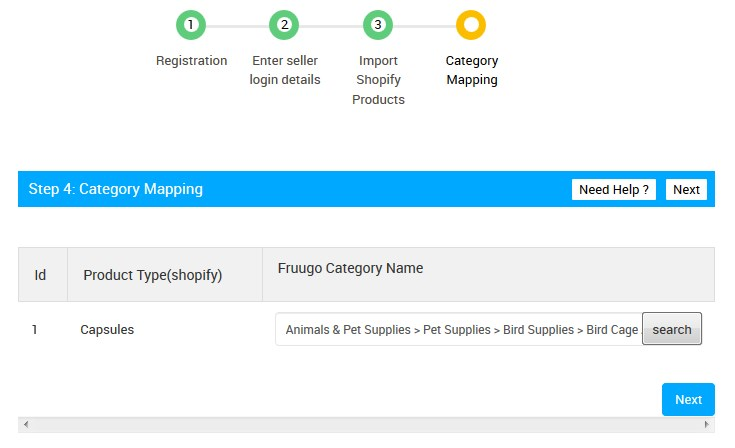 FruugoStep4CategoryMapping_Search