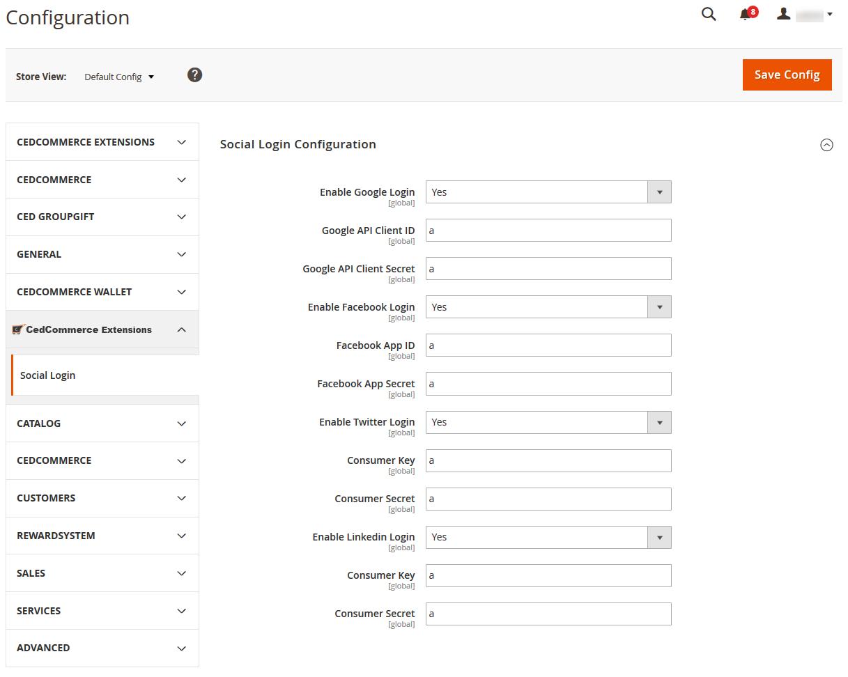 SocialLoginConfigurationPage