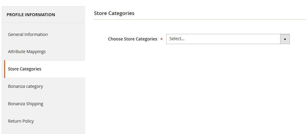 BonanzaM2Integration_AddNewProfilePage_StoreCategories_1