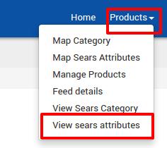 View sears attributes