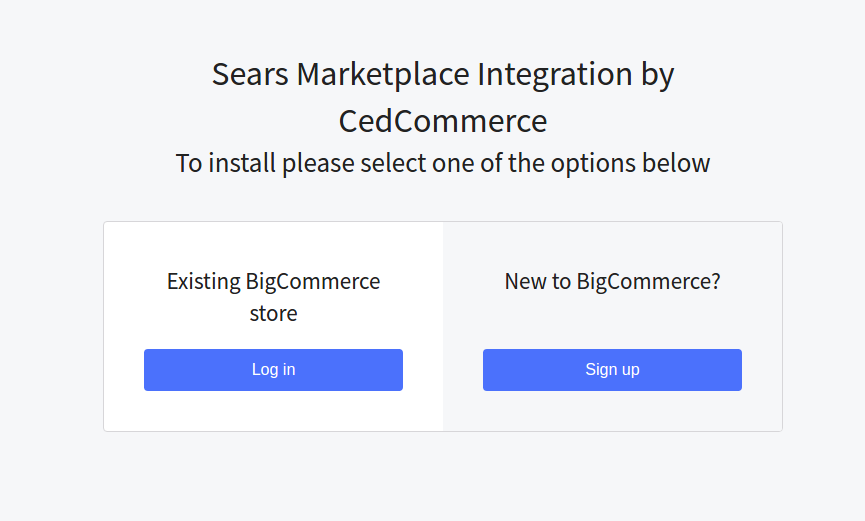 Sears BigCommerce Integration Installation