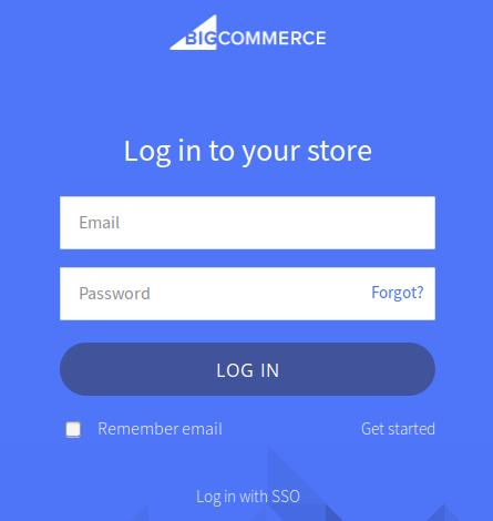 BigCommerce Login