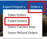 Failed Orders