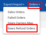 Sears Refund Orders