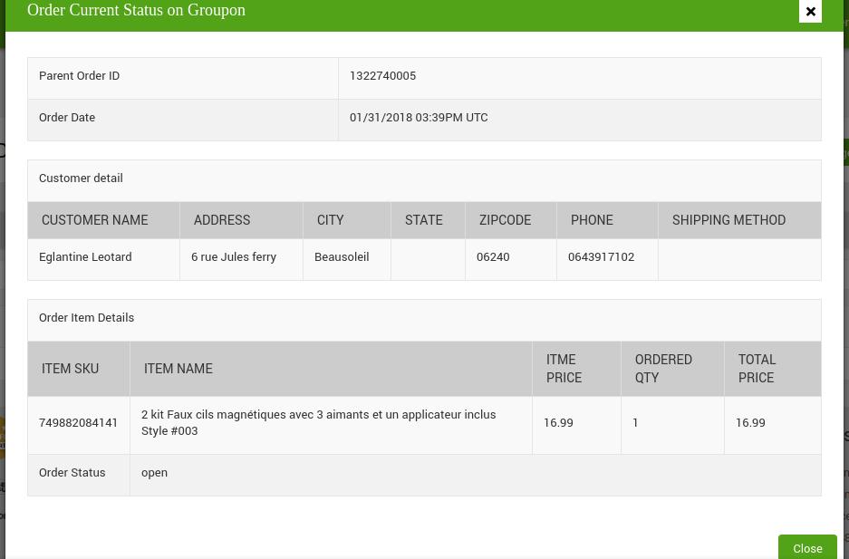 Order Current Status