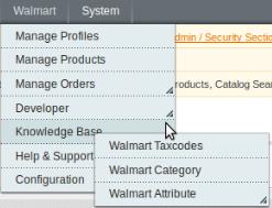 Walmart knowledge base