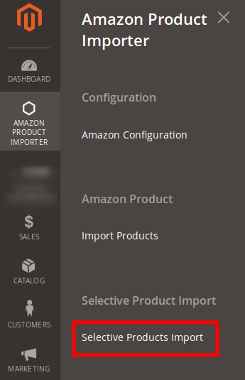 amazon magento 2 product importer selective import