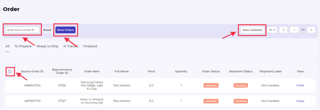 mercadolibre order other options
